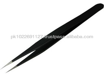 Black tweezers for eyelash extension