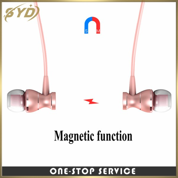 High quality waterproof wired earphone Magnetic sport mini earphone