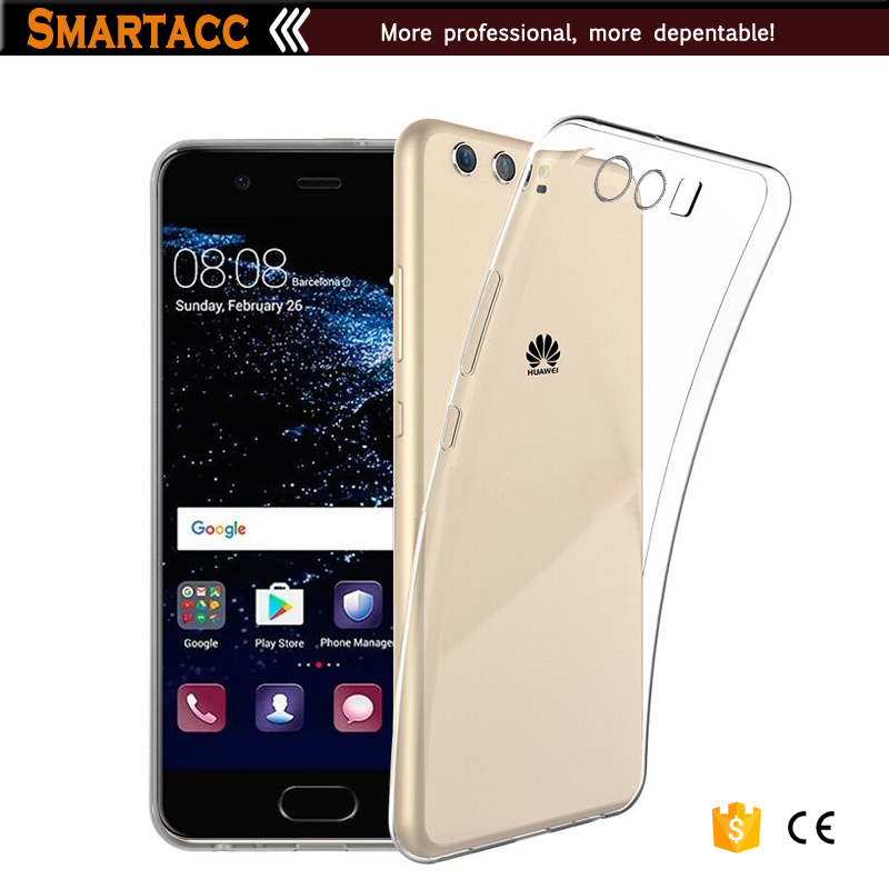 New 2017 Transparent Clear TPU Silicon Hand Case For Huawei P10