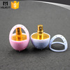 plastic egg shape container with perfume sprayer