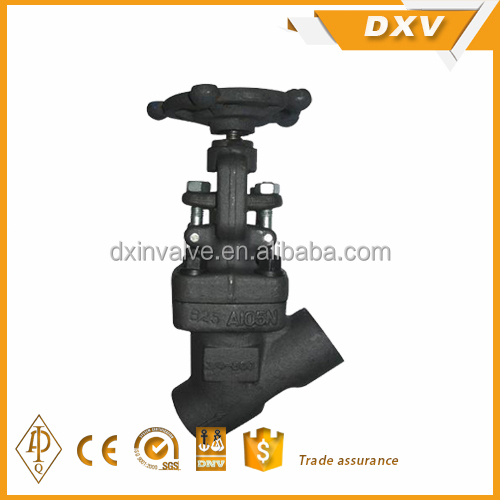 OS&Y welded seal bonnet Y type globe valve