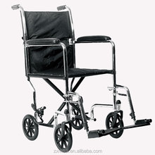 For disabled outdoor portable manual steel folding wheelchair