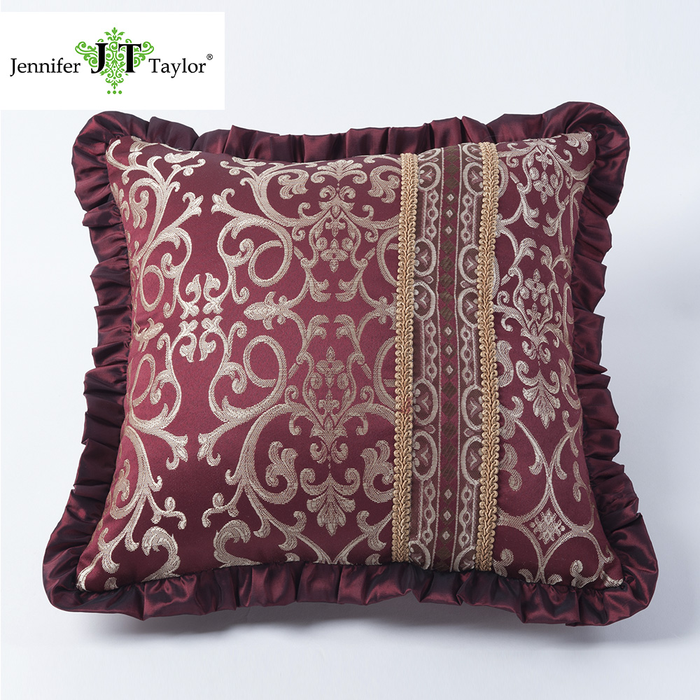 Home decor bed decorative pillows/furniture factory sofa armrest square cushion/living room sofa set cushion
