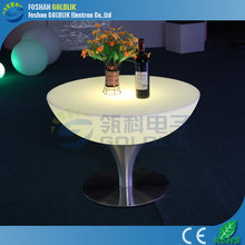 GLACS led music dancing furniture Led Cocktail /High Top Bar /lighting led coffee table