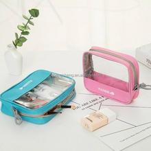 2017 new waterproof transparent vinly travel pvc bag