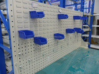 Plastic Wall Mounted Storage Bins used in warehouse
