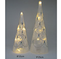 Wholesale New Decorative LED hand blown glass christmas trees