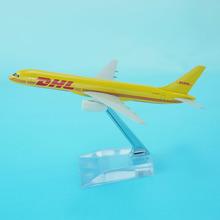 DHL plane model 1/300 16cm B757-200 cargo aircraft for sale