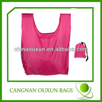 wholesale pinky ripstop nylon shopping bag