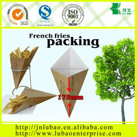 food grade &paper cone bag for chicken packing popular in Belgium