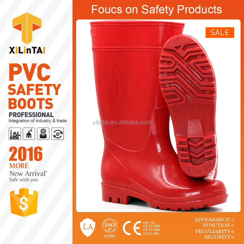 Womens' Customized High Heel PVC Rain Boot for wholesale