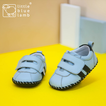 2016 littlebluelamb infant soft leather baby shoes toddler shoe with fashion design BB-A3120-BU