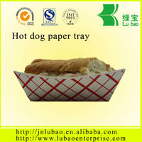 eco-green disposable sushi paper tray with lid