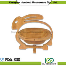 Factory direct sales all kinds of rabbit shape Bamboo Basket For Food&Fruit