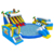 Commercial Shark obstacle Giant Pool Inflatable Amusement Park Equipment With Pool And Slide Inflatable Hight quality Water Park