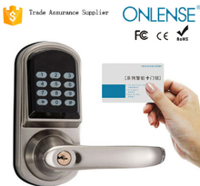 Safety card password electronic home security keyless door lock