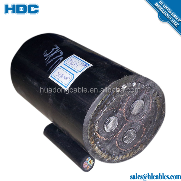 0.6 / 1kv low voltage waterproof 120 sq mm 4 core power cable