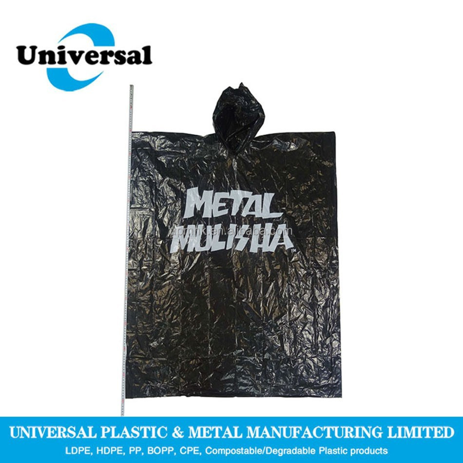 Popular clear black rain poncho