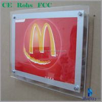high bright DC12v led 5050 acrylic photo frames 5x7' for coca cola promotion