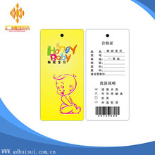 wholesale custom kraft paper hang tag with hole
