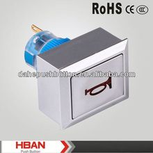CE ROHS 2012 push-button actuator