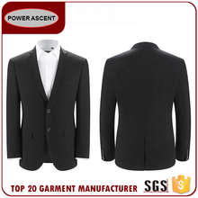Casual Mens Formal Smooth Business Black 2-Button Suits