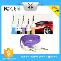 Fashion Flat Noodle Shape Sound Audio Aux Stereo 3.5mm Jack Male to Male Cable For Smartphone
