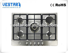 kitchen appliance 5 burners gas stoves/ zone digital lock