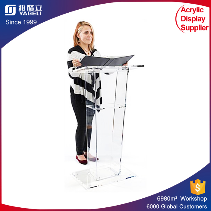 Cheap Acrylic Lectern Podium Clear Acrylic School rostrum custom made