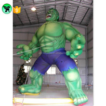 6m Super Hero Inflatable Customized 19ft Giant Hulk Inflatable Green Man Cartoon For Event A684