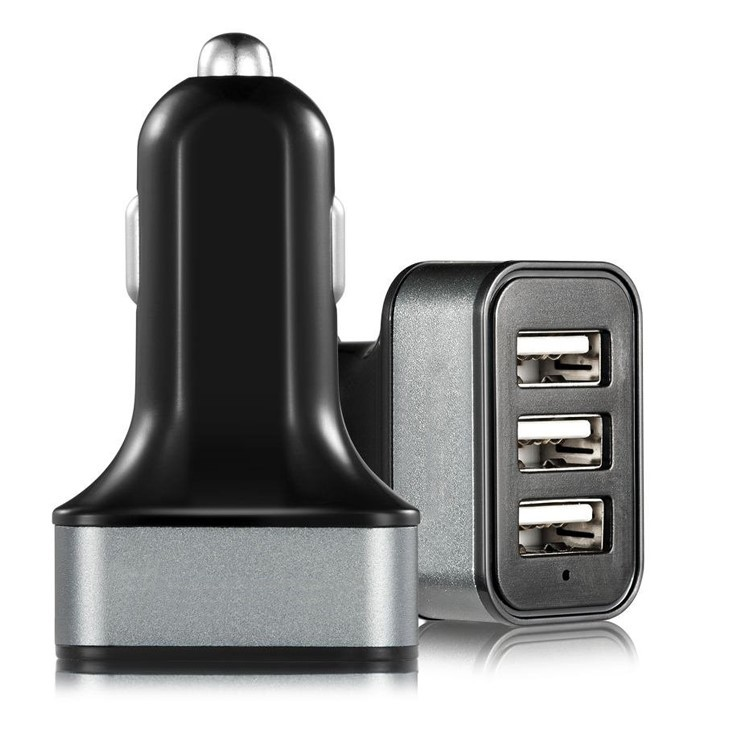 three port usb car charger 36W,rapid usb car charger quad port,7.2a usb car charger universal