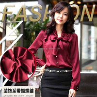 Bank uniform career women's clothing professional women's shirt Retail women's shirt OEM clothing