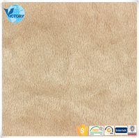 100% Polyester Mink Micro Velboa Knitted Electrically Conductive Fabric Electrode