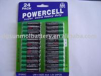 R03 um4 aaa size super power battery