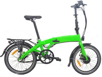 "Green 20"" E-Bicycle New Electric Folding Bike"