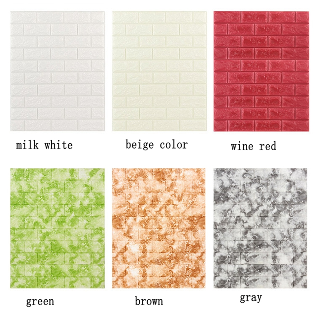 Cheap price foam wall cladding , wallpaper/wall coating