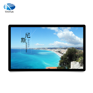 Wall mount smart android system LCD touch screen advertising digital signage with LG panel