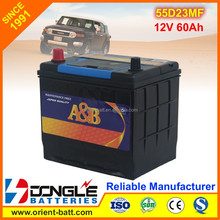 Factory Export Good Price Heavy duty 55d23r mf car battery