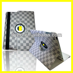 Ultra Thin Smart Cover 360 Rotated Leather for iPad Case With Strap Rotating Strong Magnet New Product Lattice Style