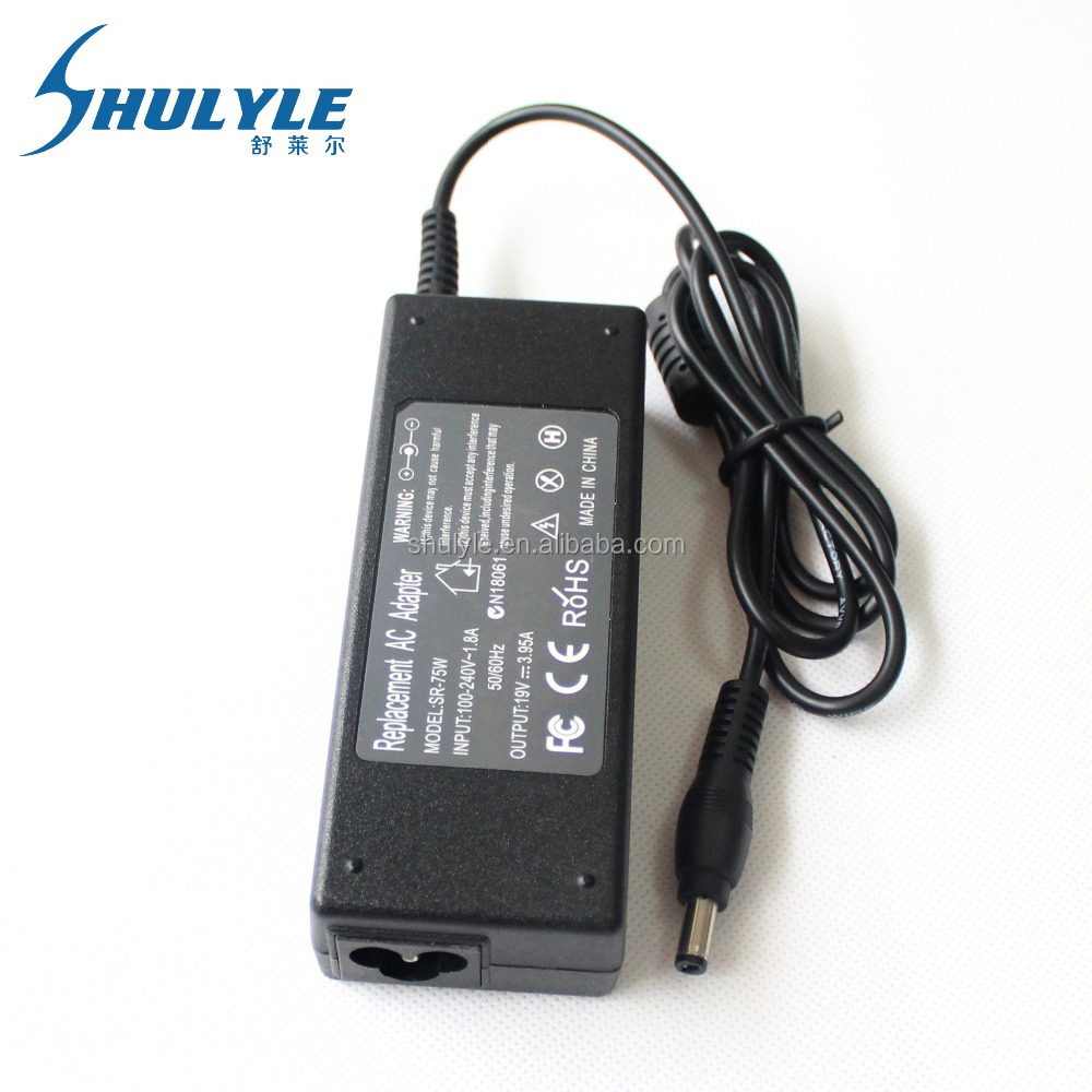 For Toshiba Satellite A100 A200 A300 A350 A660 PA3468E-1AC3 PA3468U-1ACA 19V 3.95A 75w Power supply Laptop Charger AC Adapter