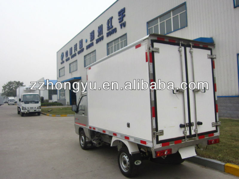2 ton freezer refrigerated truck with 8feet-14feet/van truck