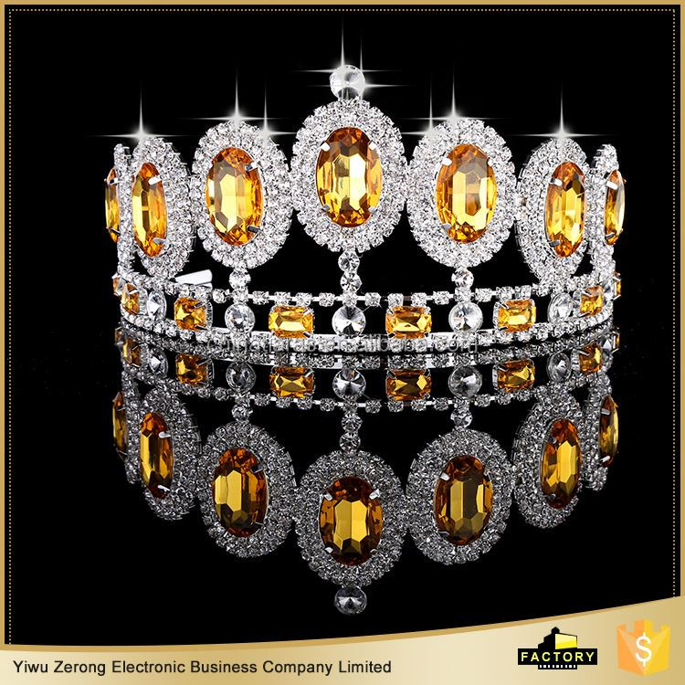Factory Supply good quality real diamond crowns and tiaras directly sale