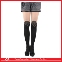 834 Sexy spell have pantyhose Japanese style crown jacquard over-the-knee false high anti tick backing silk stockings