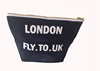 Wholesale Promotional Custom 12OZ Canvas Clutch Bag Black For Cosmetic