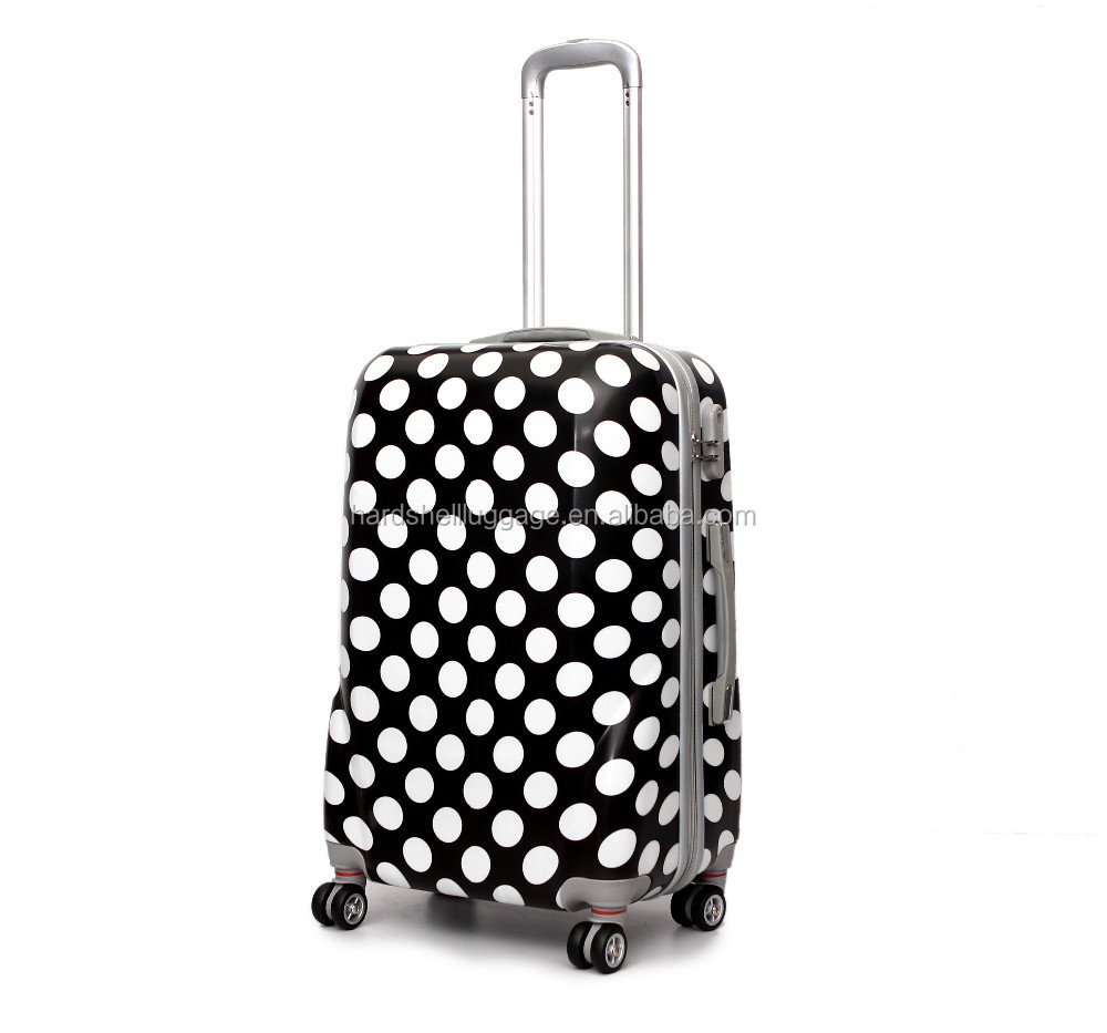 "207# abs pc plastic trolley luggage for travelling 20"" 24"" 28inch suit case set"