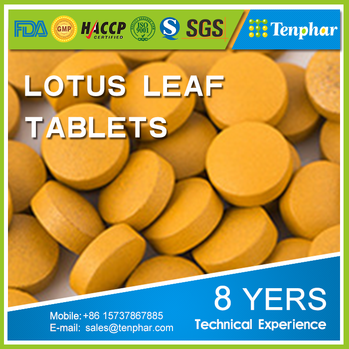 Factory Natural 1000 mg Lotus Leaf Extract Folium Nelumbinis Tablets