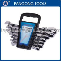 7pc Flexible Combination Ratchet Spanner Wrench Set Metric 8mm-22mm