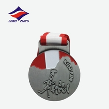 Cute style Kids little size casting running medals with ribbon