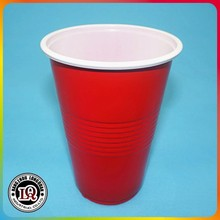 Disposable 16oz ps plastic red party cups