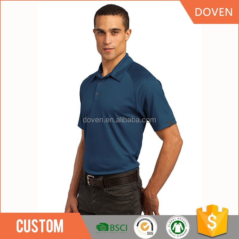 100% cotton rib collar polo shirts for men